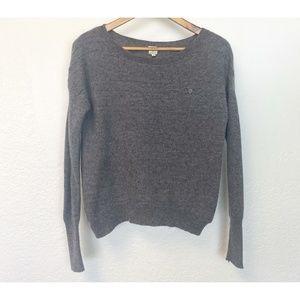 Qi Cashmere Heather Grey Long Sleeve Sweater